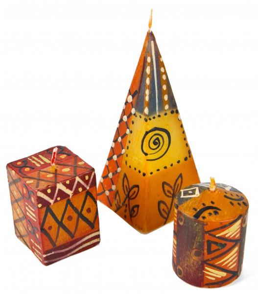 3er Kerzenset Bongazi Nobunto handbemalt