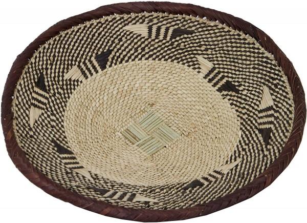 Korbschale 28cm Mohi Handarbeit aus SIMBABWE Afrika Deko mit 28cm Durchmesser-